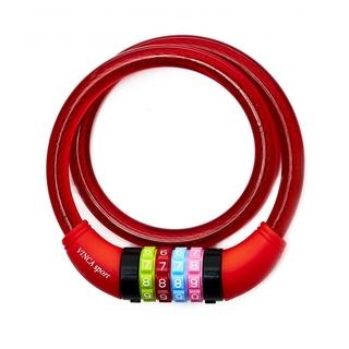 Велозамок кодовый Vinca sport красный