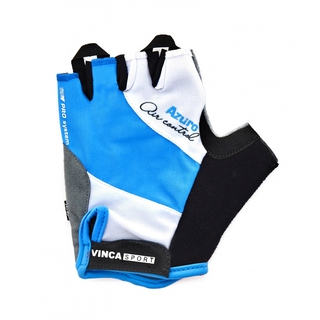 Велоперчатки Vinca sport VG 933 blue azuro
