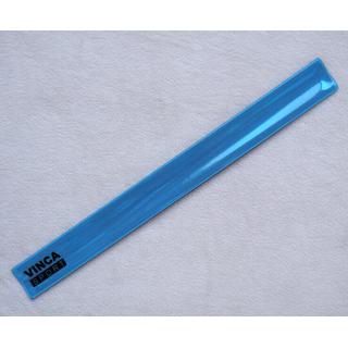 Светоотражающий браслет Vinca sport синий 30*330 мм