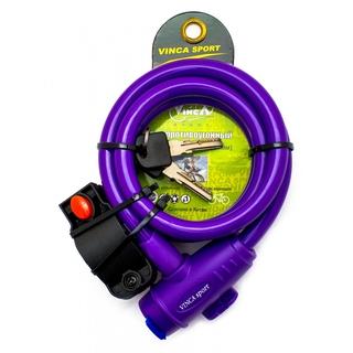 Велозамок тросовый Vinca sport VS 588 violet