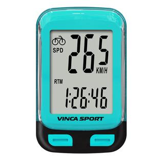 Велокомпьютер беспроводной с подсветкой экрана Vinca sport V-3600 blue