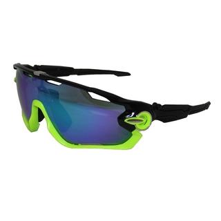 Велоочки со сменными линзами Vinca sport VG 107 black green